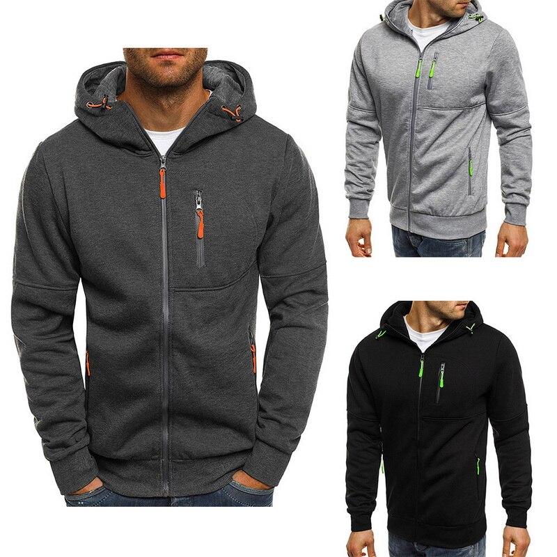 LAAMEI Hoodies Men 2019 Long Sleeve Pullover Hoodies Men Zipper Sweatshirt Male Tracksuit Hip Hop Autumn Winter Hoodies Coat