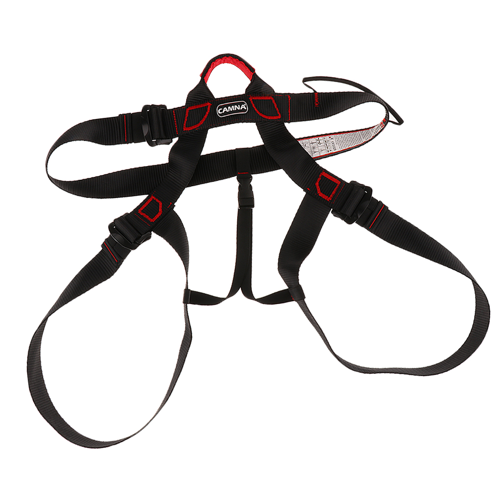 Adjustable Rock Climbing Half Body Harness Safety Seat Belts Mountaineering Fire Rescue Aerial Work Equipment Camping Hiking Acc