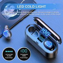 Mini TWS Bluetooth V5.0 Earphones Wireless Headphones Earphones 9D Hifi Sports W