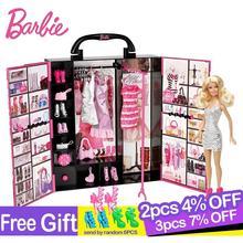 Ban Đầu Búp Bê Barbie Tuyệt Đỉnh Giả Tưởng Tủ Quần Áo Cho Bé Nữ Đồ Chơi Mô Hình Quần Áo Bộ Trang Phục Phù Hợp Với Công Chúa Bé Gái Quà Tặng Đồ Chơi Cho Trẻ Em