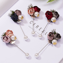 Brooch Pins Flower Vintage And Pearl Art Shirt Collar for Women Dress Cloth Fabric Ladies