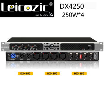 Leicozic DX4250 4x 250w digital amplifier RMS 4ohm 400w amplifier class d amps 4 channel power amplifiers musical instruments