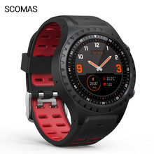 "SCOMAS M1 GPS Smart Watch 1.3""IPS Round Display Heart Rate Monitor Sleep Monitoring Compass Barometer Outdoor Sport Smartwatch(China)"