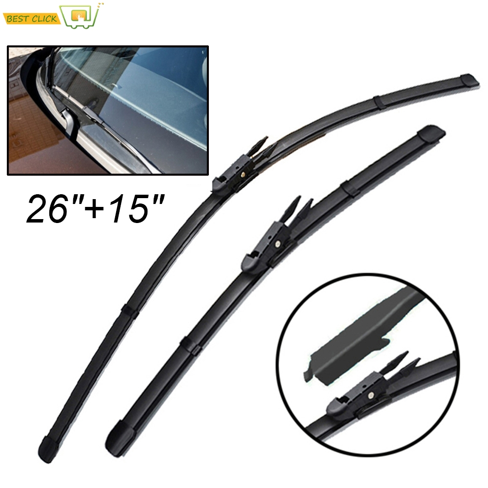 Front and Rear Blades POLO Hatchback Mar 2009 Onwards Windscreen Wiper Blade Set 3 x Blades
