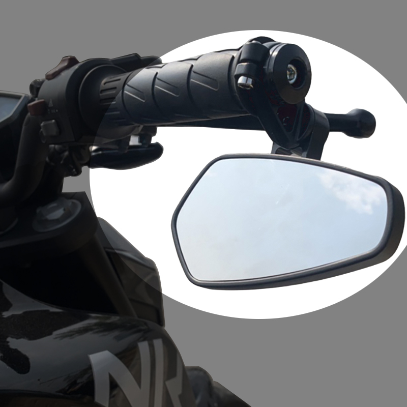 Universal Rearview Mirror Motorcycle Side Handlebar Bar End Mirrors Moto Bicycle Electric Bike Scooter Motorbike Accessories