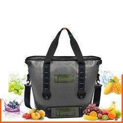 30L ręczny torba termiczna Camping torba na lód lodówka podróży TPU torba termiczna miękkie opakowanie na świeżym powietrzu torba na lód piknik na świeżym powietrzu narzędzie w Torby piknikowe od Sport i rozrywka na