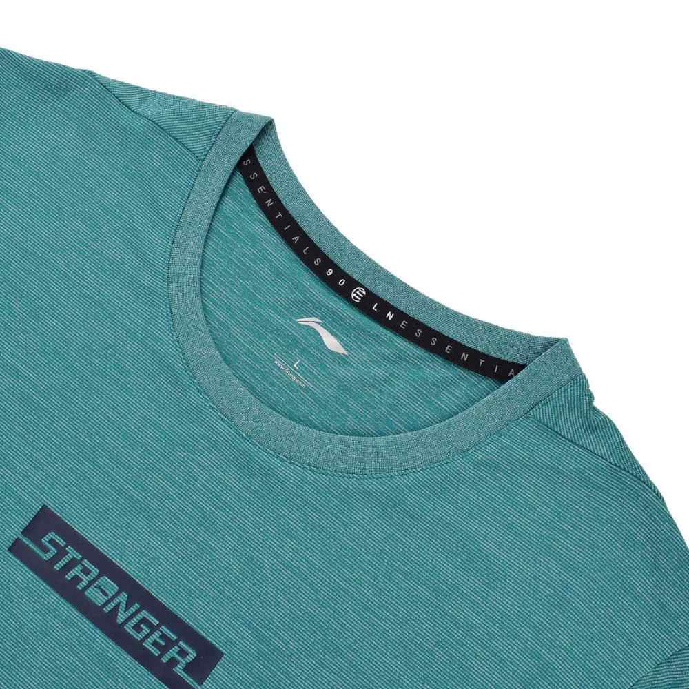 (Break Code) li-Ning Mannen Training T-shirts Regular Fit 88% Polyester 12% Spandex Voering Li Ning Sport Tee Tops ATSN091 MTS2753