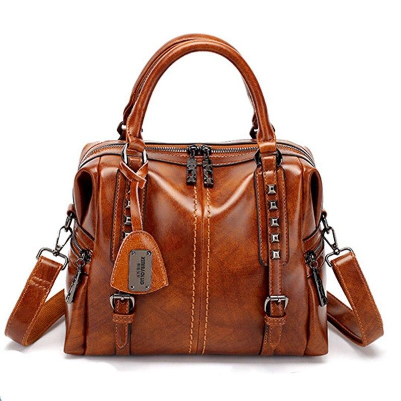 New Genuine Leather Bag Fashion Luxury Handbags Women Bag Designer High Quality Totes Vintage Personality Shoulder Bag Messenger
