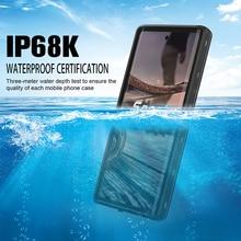 수중 실제 방수 케이스 삼성 Note 10 Plus S10 S8 S9 Plus 다이빙 방수 스탠드 Galaxy Note 8 9 용 전화 케이스