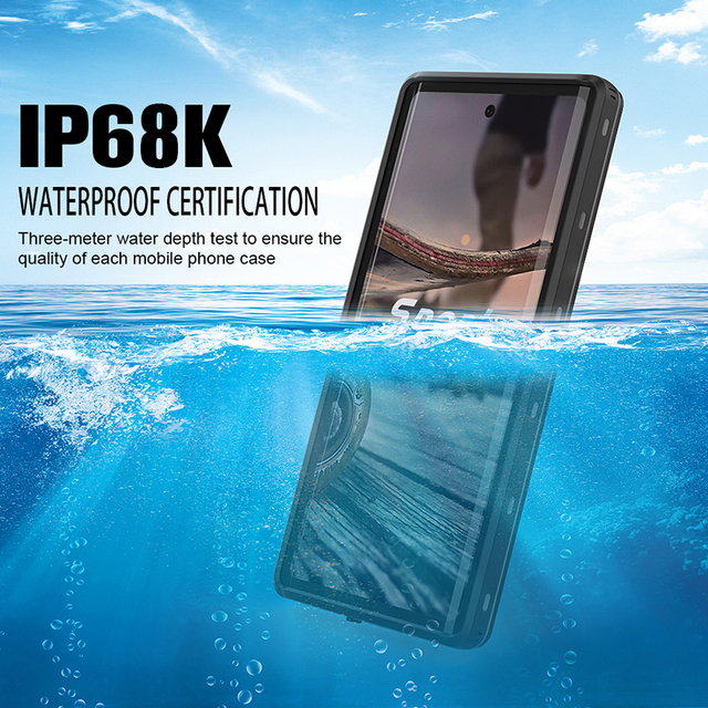 Underwater Real Waterproof Case For Samsung Note 10 Plus S10 S8 S9 Plus Diving Water Proof Stands Phone Case For Galaxy Note 8 9