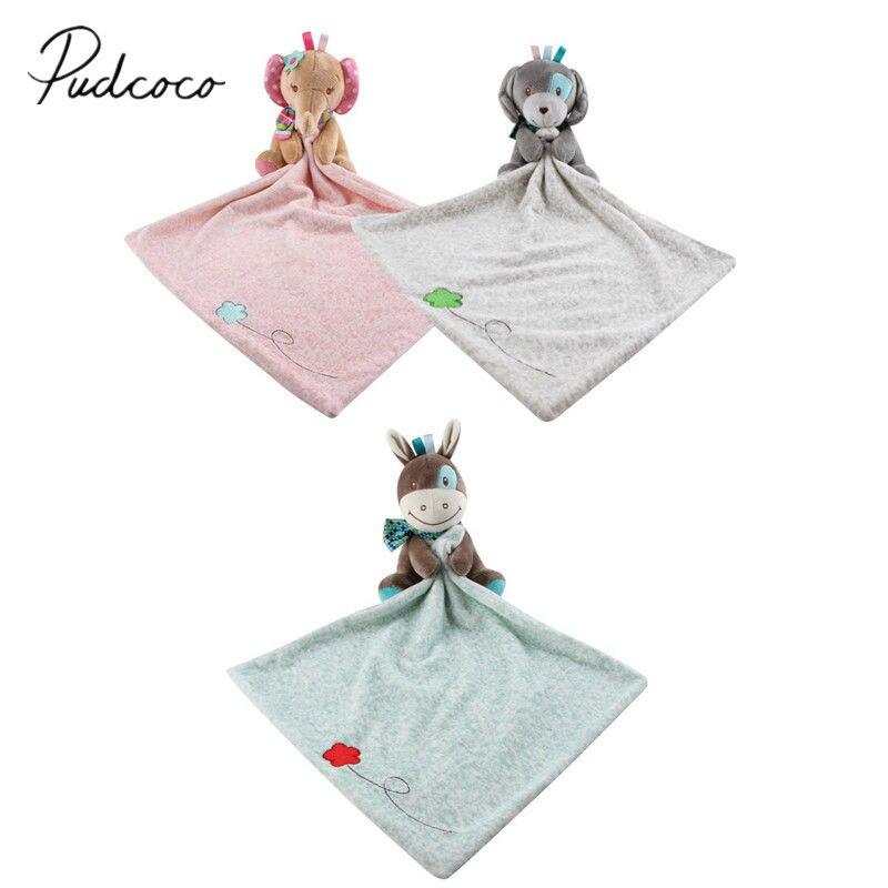 Brand New Infant Baby Nursery Toddler Security Cartoon Soft Smooth Bath Animal Toy Blanket Cartoon Bibs Baby Infant Towel