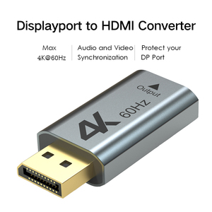 Image 2 - Aluminum 4K Displayport DP to HDMI Adapter 4K 2K@60Hz 1080P Female To Male For PC Laptop Projector DP to HDMI Converter Wavlink