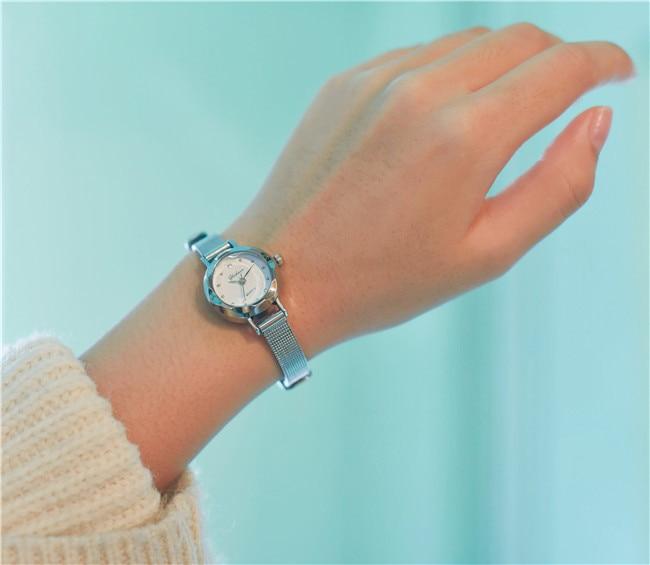 Casual feminino quartzo analógico pequeno dial delicado relógio senhoras moda negócios relógios de pulso de couro presentes relojes para mujer 2
