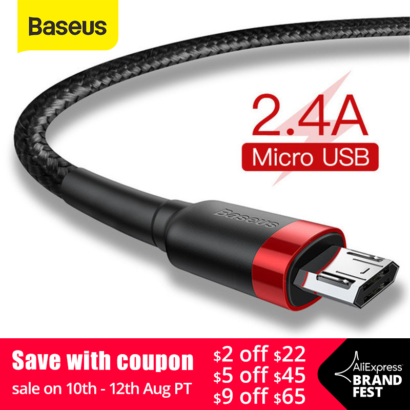 Baseus Micro USB Cable 2.4A Fast Charging for Samsung J7 Redmi Note 5 Pro Android Mobile Phone USB Micro Cable Charger Data Cord(China)