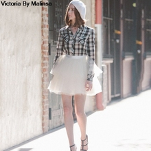 Moda bayan beyaz Mini tül etek peri siyah gizli saia vual kabarık kabarık etek kısa Tutu etekler Custom Made