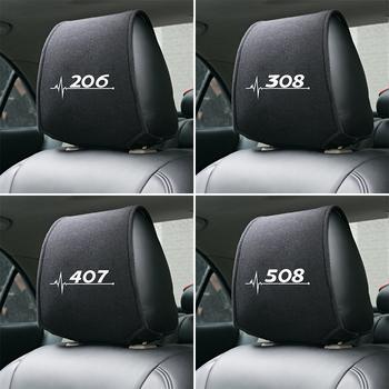 1 sztuk zagłówek fotela samochodowego pokrywa dla Peugeot 206 207 208 306 307 308 407 408 508 2008 3008 akcesoria samochodowe tanie i dobre opinie Z tworzywa sztucznego