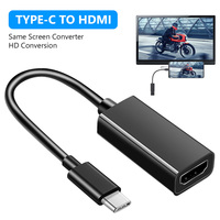 USB 3.1 4K 30Hz HD Conversion Cable Type-c To HDMI-compatible TV Adapter For Mobile Phone Notebook Connected TV Monitor