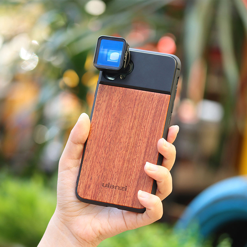 Ulanzi Wooden Phone Case For IPhone 11, IPhone 11 Pro, IPhone 11 Pro Max With Anamorphic Lens Macro Lens