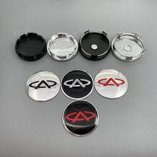 4 pçs 56mm ou 60mm novo logotipo chery emblema do carro centro da roda hub tampão aro automático reequipamento à prova de poeira emblema cobre acessórios de etiqueta