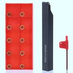 Hot SRACR1212H06 uchwyt + klucz do wytaczadło indeksowane + 10 sztuk płytka węglikowa ostrza do narzędzie tokarskie zestawy narzędzi maszynowych