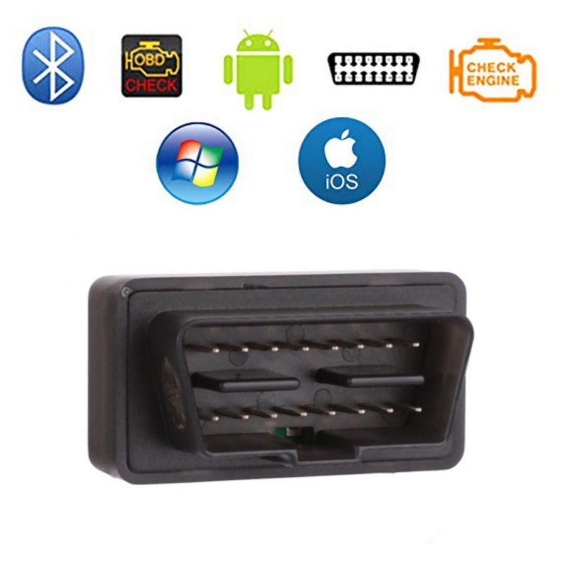 V06H4-1 ELM 327 Bluetooth <font><b>OBD2</b></font> Auto Scanner Mini <font><b>ELM327</b></font> OBD 2 Bluetooth 4.0 Adapter Car Diagnostic Tool For iPhone/Android image