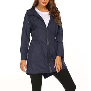 Image 3 - 女性のレインコート女性バイクサイクリングレインコートカバーマント不浸透性屋外防水女性のファッションの高級雨ジャケットスーツ
