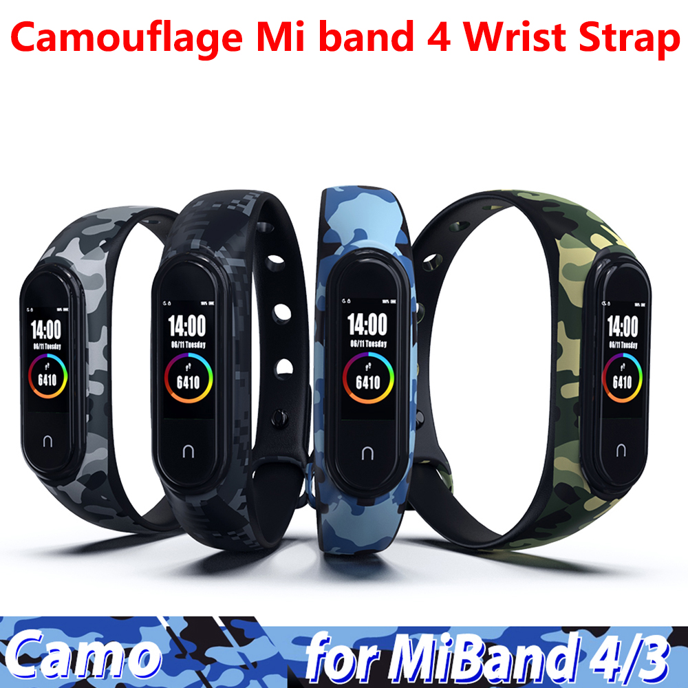 Colorful Print Camouflage Mi Band 4 Wrist Strap For Xiaomi 4 Smart Bracelet For Miband 4 Strap Replacement Silicone Accessories