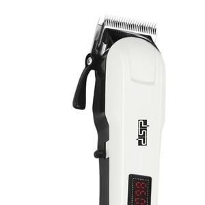 Image 2 - Powerful adjustable hair clipper professional electric cordless hair trimmer beard electric hair cutting machine haircut for men