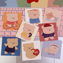 8 Pcs/Pack Lovely Bear Creative Decorative Cards Mobile Shell Card Wall Decoration Shooting Props Decorative Painting Suit