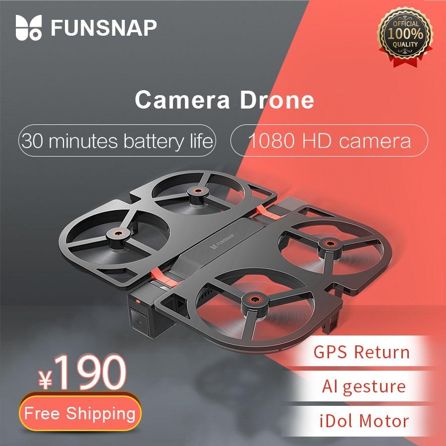 Funsnap ídolo FPV Drone RC Drone 4K GPS Quadrupter profesional Drone cámara HD 1080P AI gesto para Xiaomi Youpin 4K Cámara Drones
