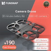 Funsnap iDol FPV RC Drone 4K GPS Quadrupter Professional Camera HD 1080P AI Gesture For Xiaomi Youpin Drones