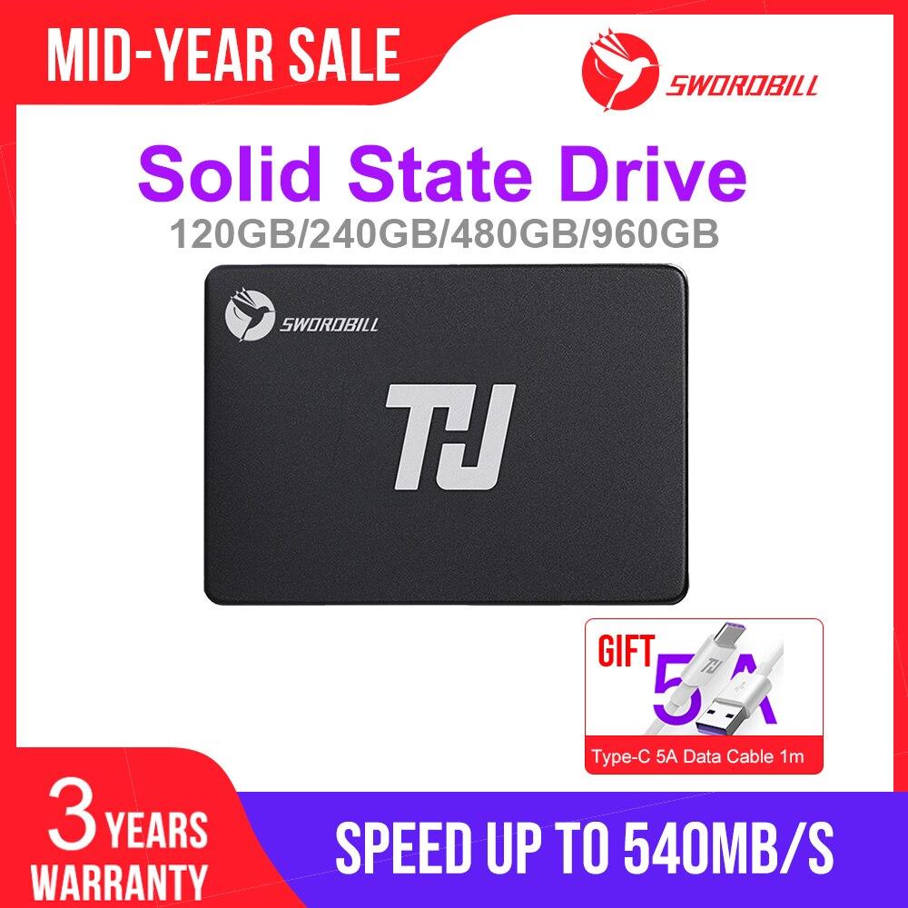 THU Portable SSD Internal Solid State Drive 120GB 240GB 480GB 960GB 2 5inch SATA III SSD 7mm for Desktop Laptop PC