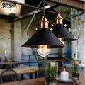 Винтажный светодиодный подвесной светильник Железный промышленный Ретро стиль абажур Лофт подвесной светильник металлическая клетка сто...