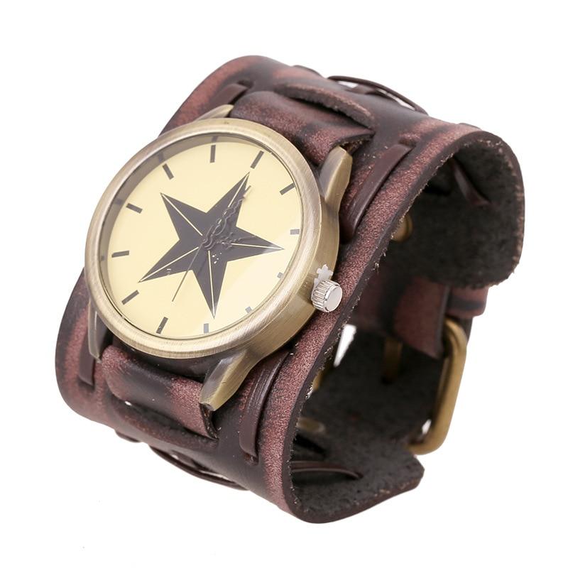 New Arrival Belt Strap Genuine Leather Watch Punk Retro Vintage Wide Wrap Men Bracelet For Women Jewelry Freely Shipping