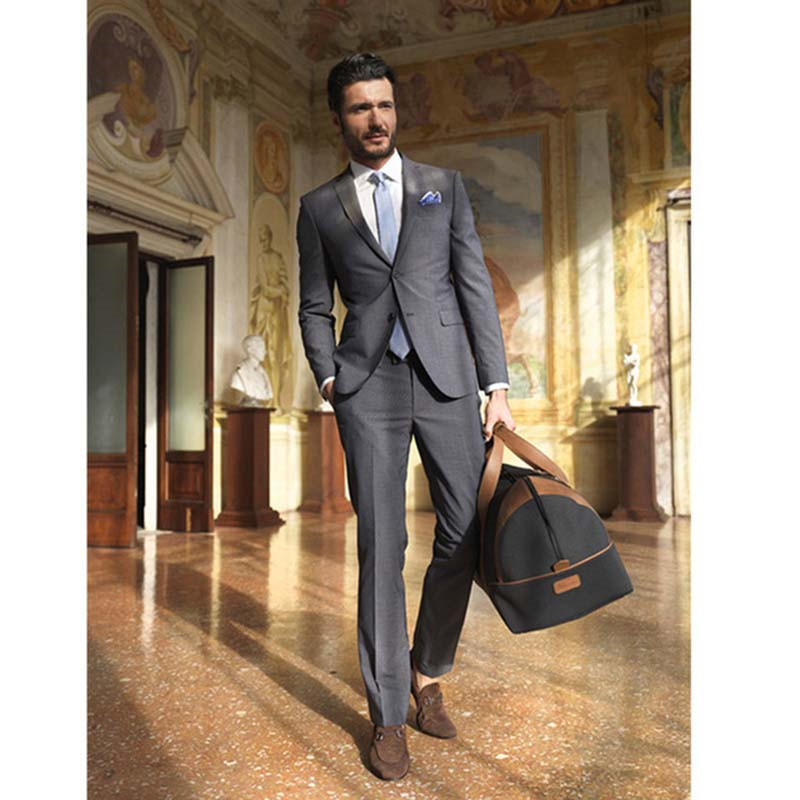 2020 Slim Mens Formal Outside Suits Tailor Made Bridegroom Groomsmen Wedding Tuxedos Two Piece Banquet Suit (Jacket+Pant)