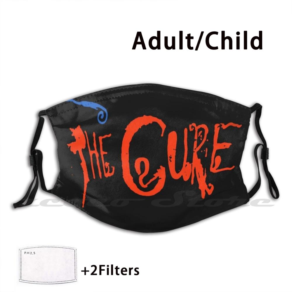 The Cure Live In Orange Washable Trending Customized Pm2.5 Filter Mask Thecure Goth Gothic Emo