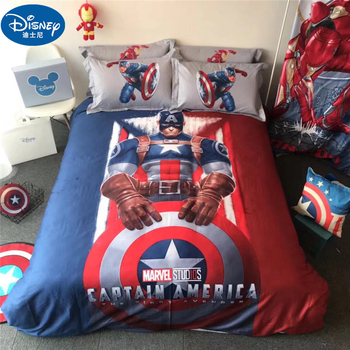 Disney Captain America Mickey Mouse Bedding Set Soft Cartoon Mickey Quilt Cover Pillow case Duvet cover Bed Sheet Bed Linen gift