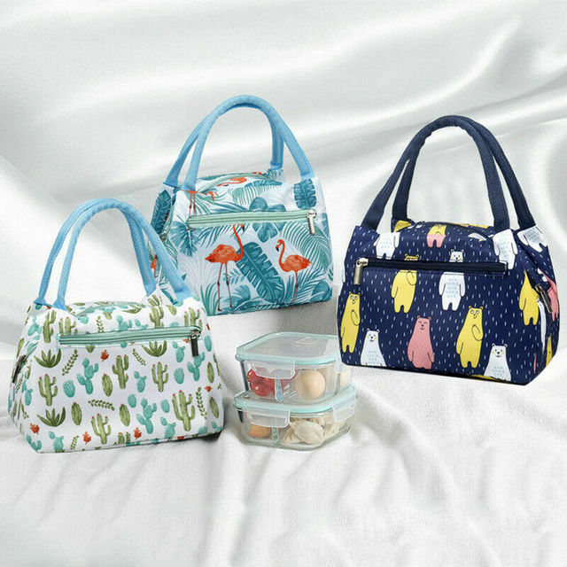 2019 Newest Hot 1PC Unicorn Floral Lunch Bags Insulated Cool Bag Picnic Bags School Travel Lunchbox Bags Large Capacity With Zip
