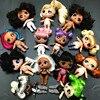 9 naked hair dolls