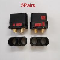 5 paar QS8-S conector de batería resistente Anti-Chispa conector dorado enchufe de corriente grande para RC modelo de coche Drone