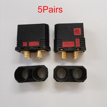 5 par QS8-S conector de resistência anti-chispa conector dorado enchufe de corriente grande para rc modelo de zangão