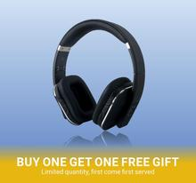 August EP650 - Bluetooth Headphones with 3.5mm Audio In Wireless or Wired Stereo Headset NFC Tap to Connect Black