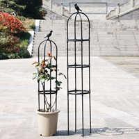 Enrejados de hierro forjado para jardín, marco de soporte de 150cm de altura, tomats Cherry de acero, 1 Juego de herramientas de jardinería, enredadera de flores
