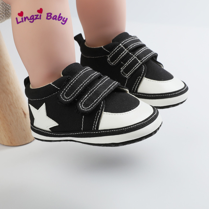 Baby Boys Girls Shoes Soft Canvas Sole Solid Footwear For Newborns Toddler Spring Infant Crib Shoes