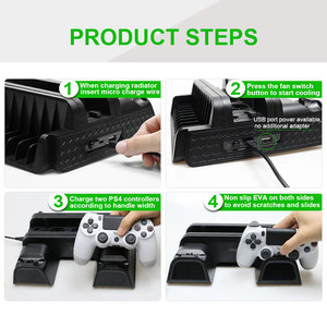 Image 5 - Koelventilator Voor PS4/PS4 Slim/PS4 Pro Console Vertical Stand Dual Controller Charger Charging Station Voor Sony playstation 4