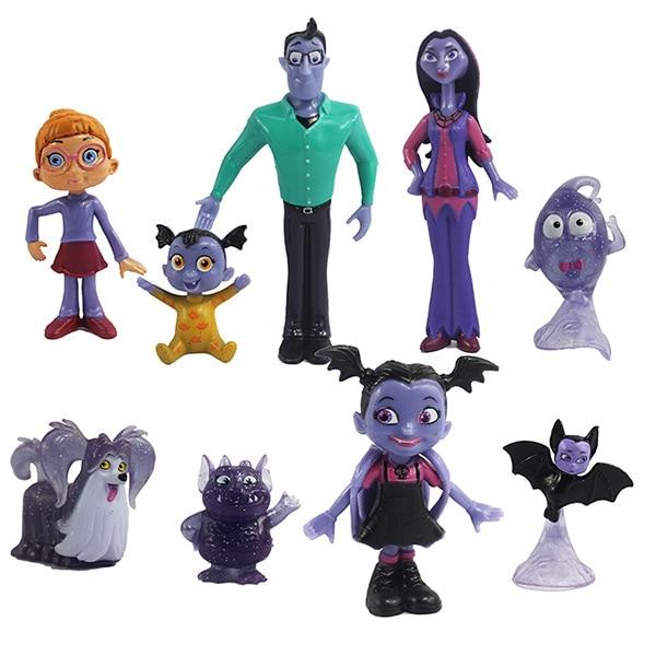 10pcs Vampirina The Vamp Batwoman Junior Girl Figure Action Kids Toy Gift Vampirina Action Figures Cake Toppers Doll Toy Gifts