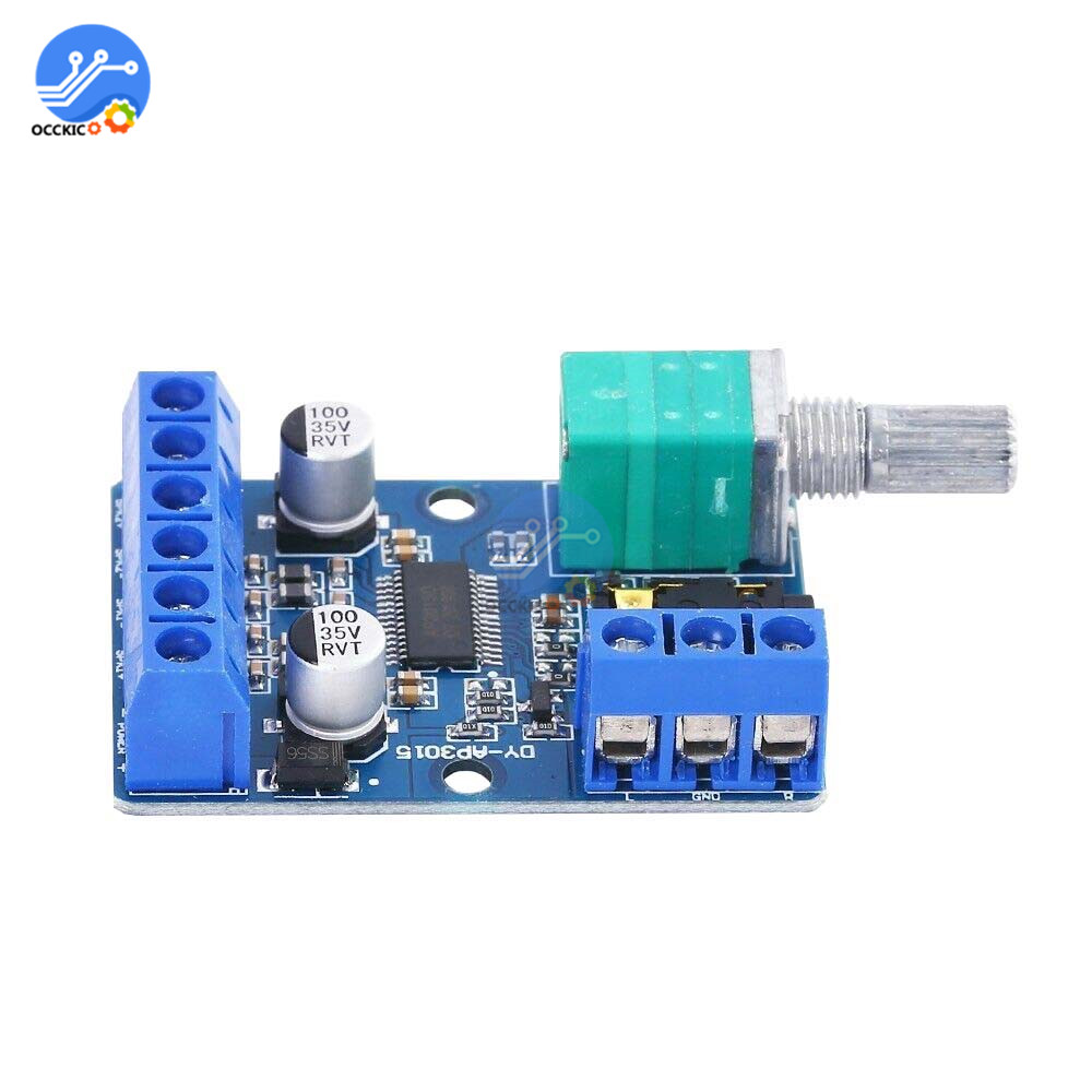 30Wx2 12V/24V Digital Amplifier Board High-Power Stereo HIFI Audio Sound Board Volume Control Subwoofer 30W*2