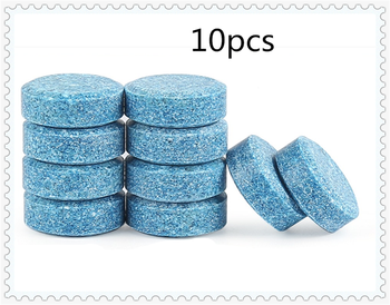 10PCS / pack car windshield wiper effervescent tablets clean solid for BMW F80 M3 E46 E39 EfficientDynamics F30 F31 E38 E90 E60 image