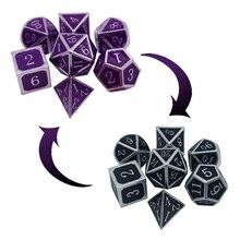 Новый Температура изменить кости металлический ролевой игры кубик для настольной игры D4 D6 D8 D10 D % D12 D20 M68D