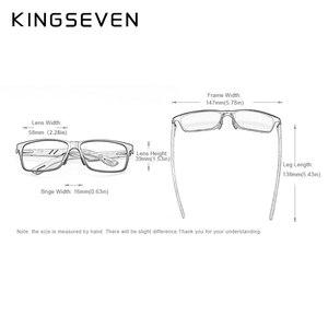 Image 2 - KINGSEVEN 2019 nowy projekt aluminium + Handmade orzech drewniane okulary przeciwsłoneczne mężczyźni spolaryzowane okulary akcesoria okulary przeciwsłoneczne dla kobiet